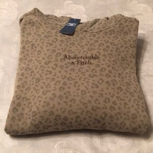 New! Men's leopard print sweatshirt by Abercrombie
